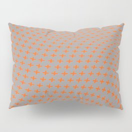 Abstract background with irregular orange crosses Pillow Sham