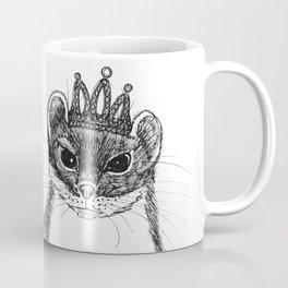 flapper weasel wearing a glittering tiara Coffee Mug