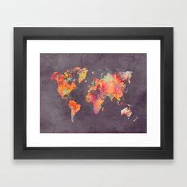 world map 67 Framed Art Print