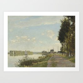 Claude Monet Argenteuil c. 1872 Painting Art Print