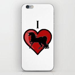 I Heart Unicorns iPhone Skin