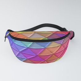 Puffy Rainbow Triangles Fanny Pack