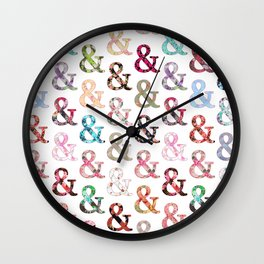 Floral Ampersand Wall Clock