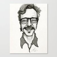 marc allante Canvas Prints featuring Marc Maron by Simone Bellenoit : Art & Illustration