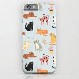 Home cats iPhone Case