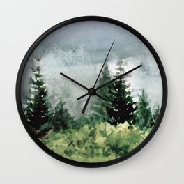 Pine Trees 2 Wall Clock
