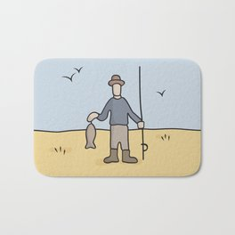 Beavis and Butthead Fisherman picture Bath Mat
