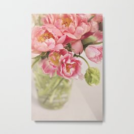 There's never too much pink or too many flowers Metal Print