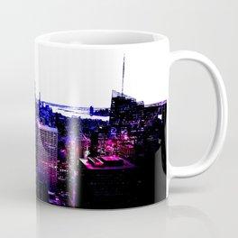 new york City Pink Purple Blue Coffee Mug