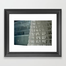 World Trade Center Competition Architectural Model Detail Framed Art Print