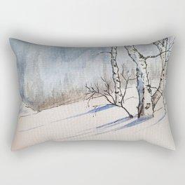 Winter Birches Rectangular Pillow