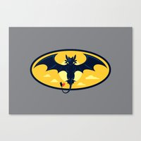 nightwing Canvas Prints featuring Nightwing by Steven Toang