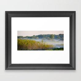 Smokey Marshland Framed Art Print