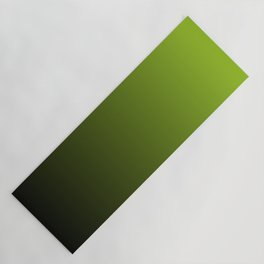Ombre   Lime Green and Charcoal Grey Yoga Mat