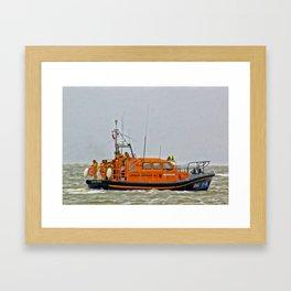 Hoylake Lifeboat (Digital Art) Framed Art Print
