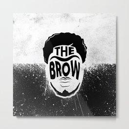 The Brow Metal Print