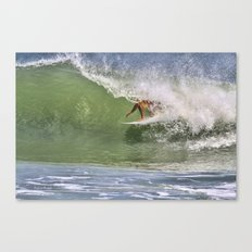 In The Tube at Ponce Inlet Canvas Print