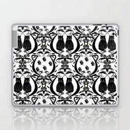 Midnight Cat Does Damask  Laptop & iPad Skin