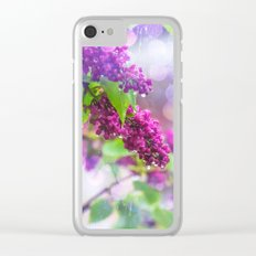 Spring rain Clear iPhone Case
