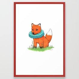 Fox Baby Framed Art Print