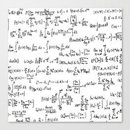 Math Equations Canvas Print