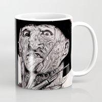 freddy krueger Mugs featuring Freddy Krueger by Emz Illustration