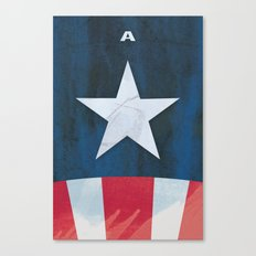 Captain America Minimal Canvas Print