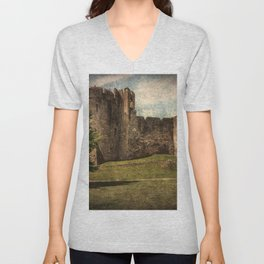 Chepstow Castle Towers Unisex V-Neck