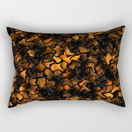 Ancient Amber Wobbly Mosaic Tiles Rectangular Pillow