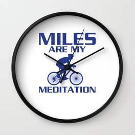 Miles are My Meditation Graphic Cycling T-shirt Wall Clock