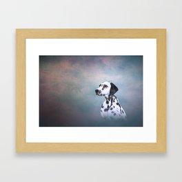 Drawing Dog Dalmatian Framed Art Print