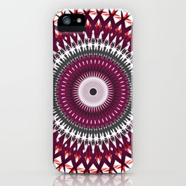 Plum Mandala iPhone Case