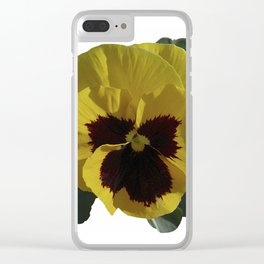Golden Pansy Clear iPhone Case
