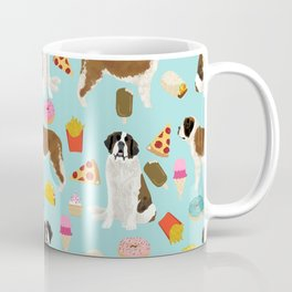 St. Bernard junk food fast food french fries dog breed pattern cute pet gifts Coffee Mug