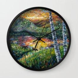 Sleeping Meadow (palette knife) Wall Clock