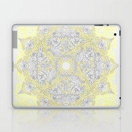 Sunny Doodle Mandala in Yellow & Grey Laptop & iPad Skin