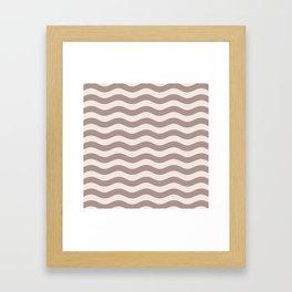 Wavy Stripes Patten Beige Framed Art Print