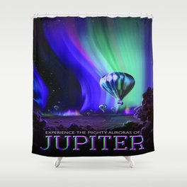 Vintage poster - Jupiter Shower Curtain