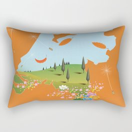 Holland travel poster Rectangular Pillow