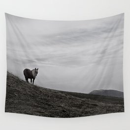 A Pony in the Pyrenees Wall Tapestry