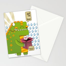 Godzilla get´s hungry!!! Stationery Cards
