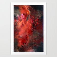Red 2 Art Print