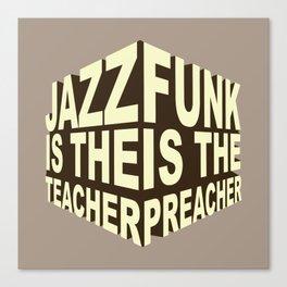 Jazz Funk Cube Canvas Print