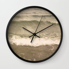 Waves on the beach Wall Clock