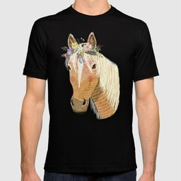 Horse with flower crown T-shirt