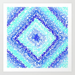 Blue Ombre Art Print