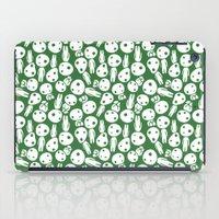 hayao miyazaki iPad Cases featuring Hayao Miyazaki's Kodamas by Jana Garin