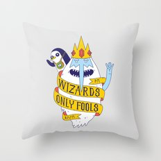 Wizards Only Fools Throw Pillow