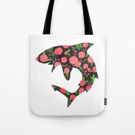 Floral Shark Tote Bag