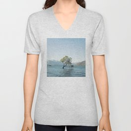 That tree in the middle of the lake Unisex V-Neck
